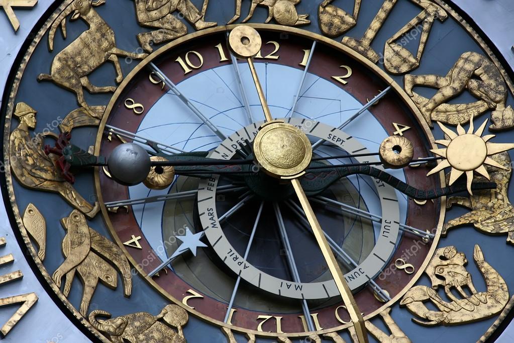 Астрологические часы фото
