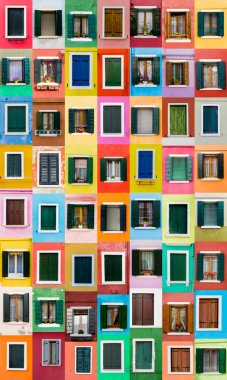 Burano windows, Italy