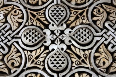 Detail from the building in Morocco