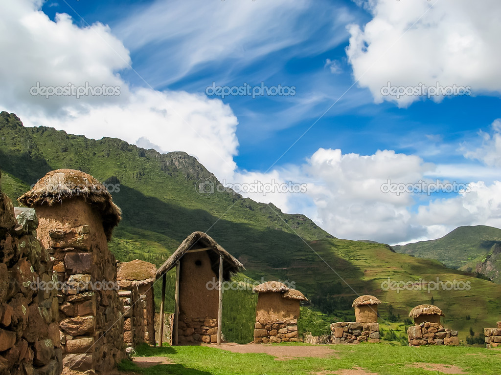 Village at Sacred valley in Peru