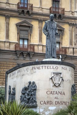 Monument of Cardinal Dusmet in Catania