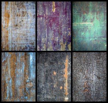 Set of various wood textures stock vector