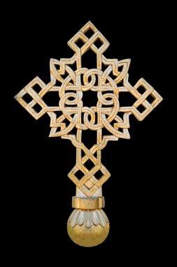 Cross isolated on black