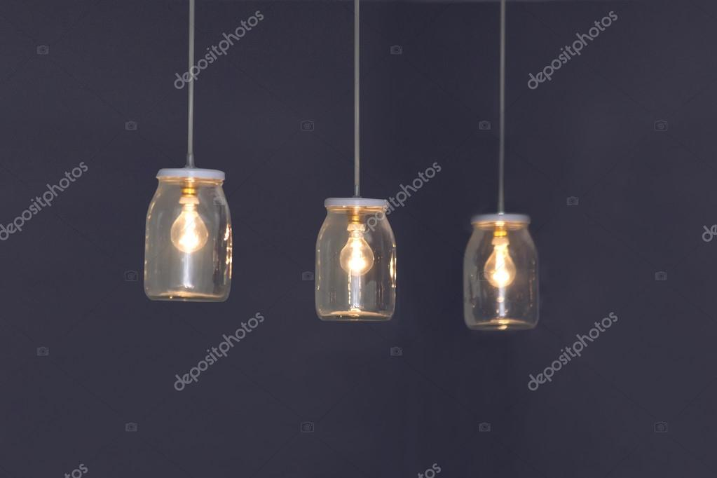 Lampada Barattolo Vetro : Lampade in barattoli di vetro u foto stock boggy