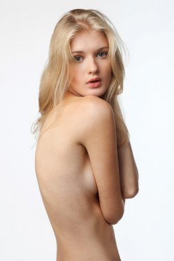 Seductive topless woman