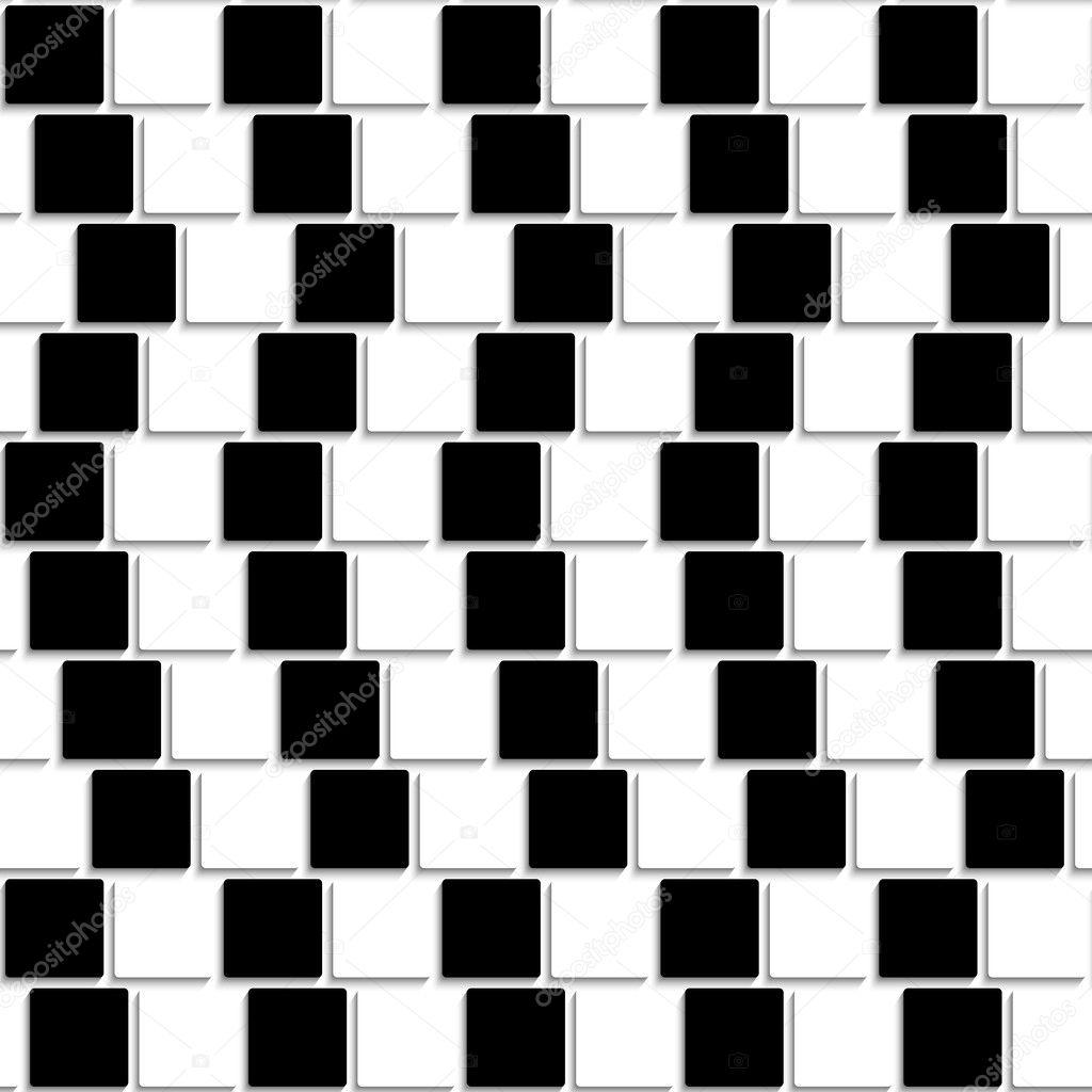 Illusione ottica di piastrelle bianche e nere senza soluzione di continuit vettoriali stock - Piastrelle bianche e nere ...
