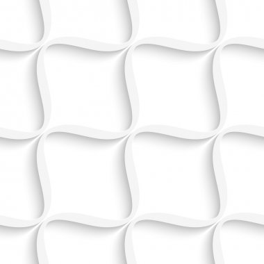 White diagonal wavy net seamless pattern