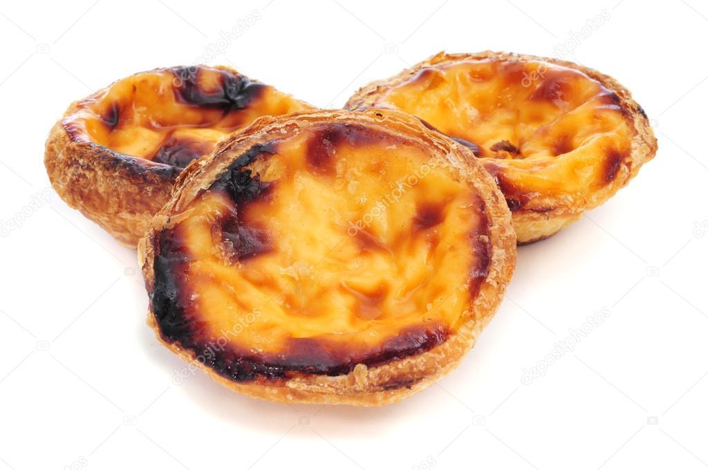 Pasteis De Nata Typisch Portugiesisch Ei Torte Kuchen Stockfoto