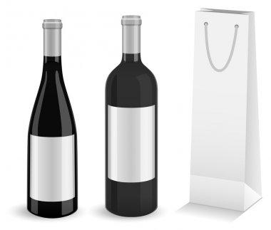 Wine bottles with bottle gift bag