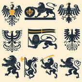 Heraldický lvi a eagles
