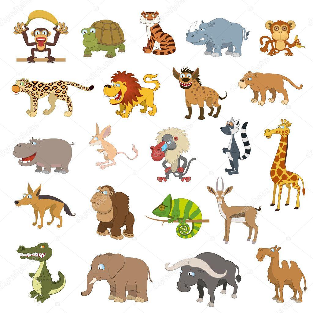 Africa animals set