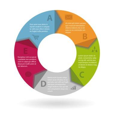 Round infographics concept