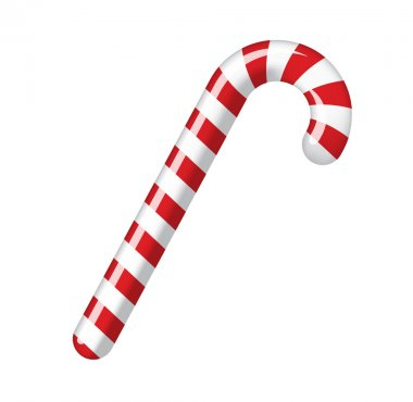 Traditional christmas candy cane