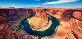 Panoramatický pohled na horseshoe bend