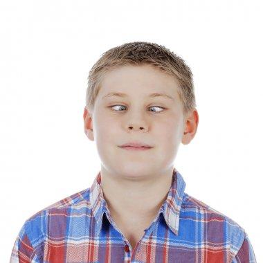 cross-eyed young boy