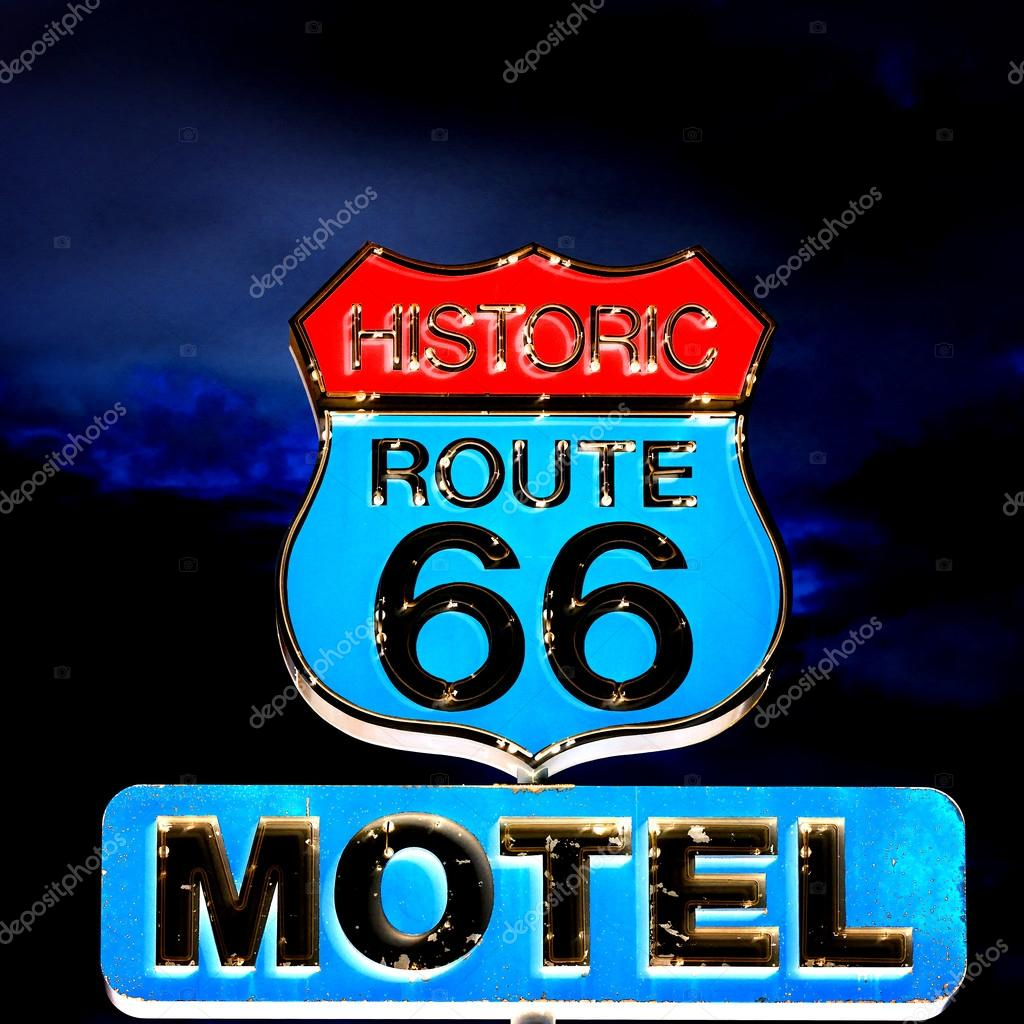 Route 66 at night