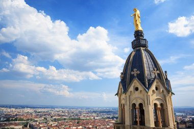 Golden Statue of Virgin Mary