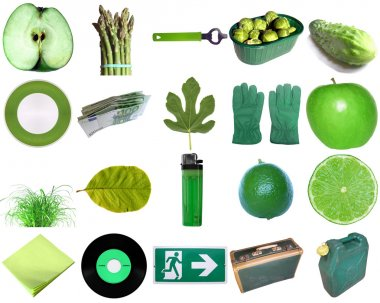 Green objects