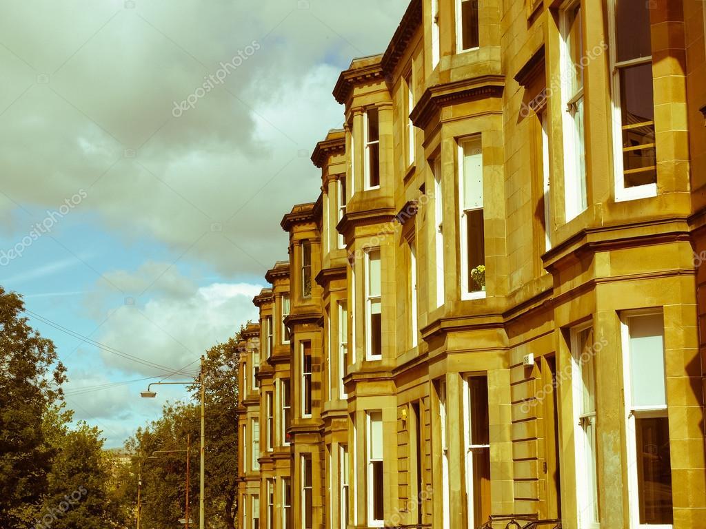 look retro terrazas casas — Foto de stock © claudiodivizia #34437249