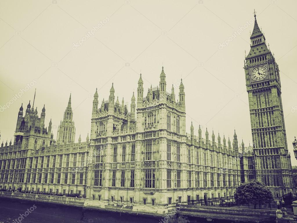 Vintage sepia Houses of Parliament
