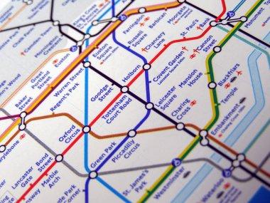 Tube map of London underground