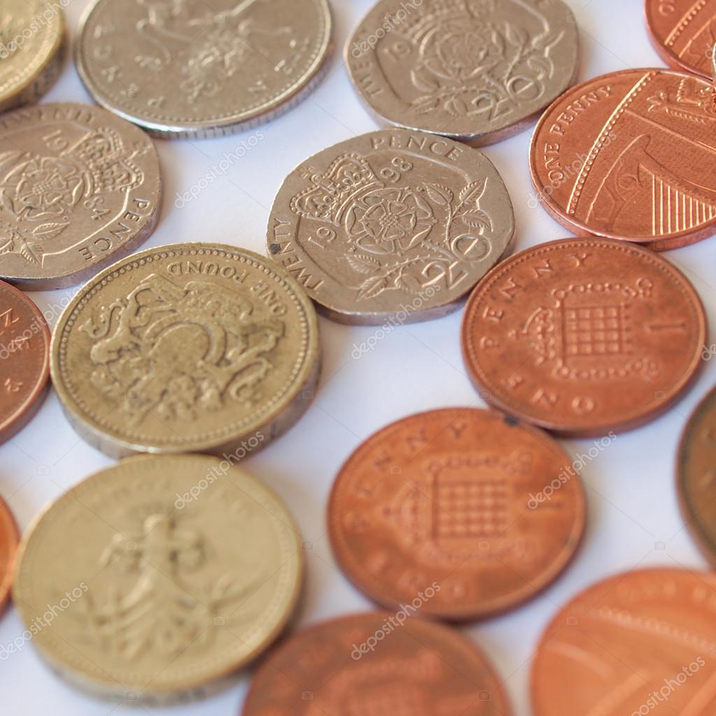 Britische Pfund Münze Stockfoto Claudiodivizia 40945947