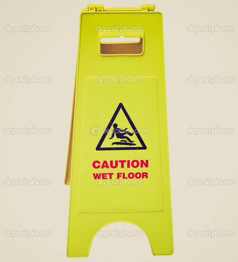 cone bilingual sign shaped floor wfc wet update yellow