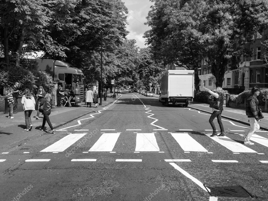 Black And White Abbey Road London UK Stock Editorial Photo