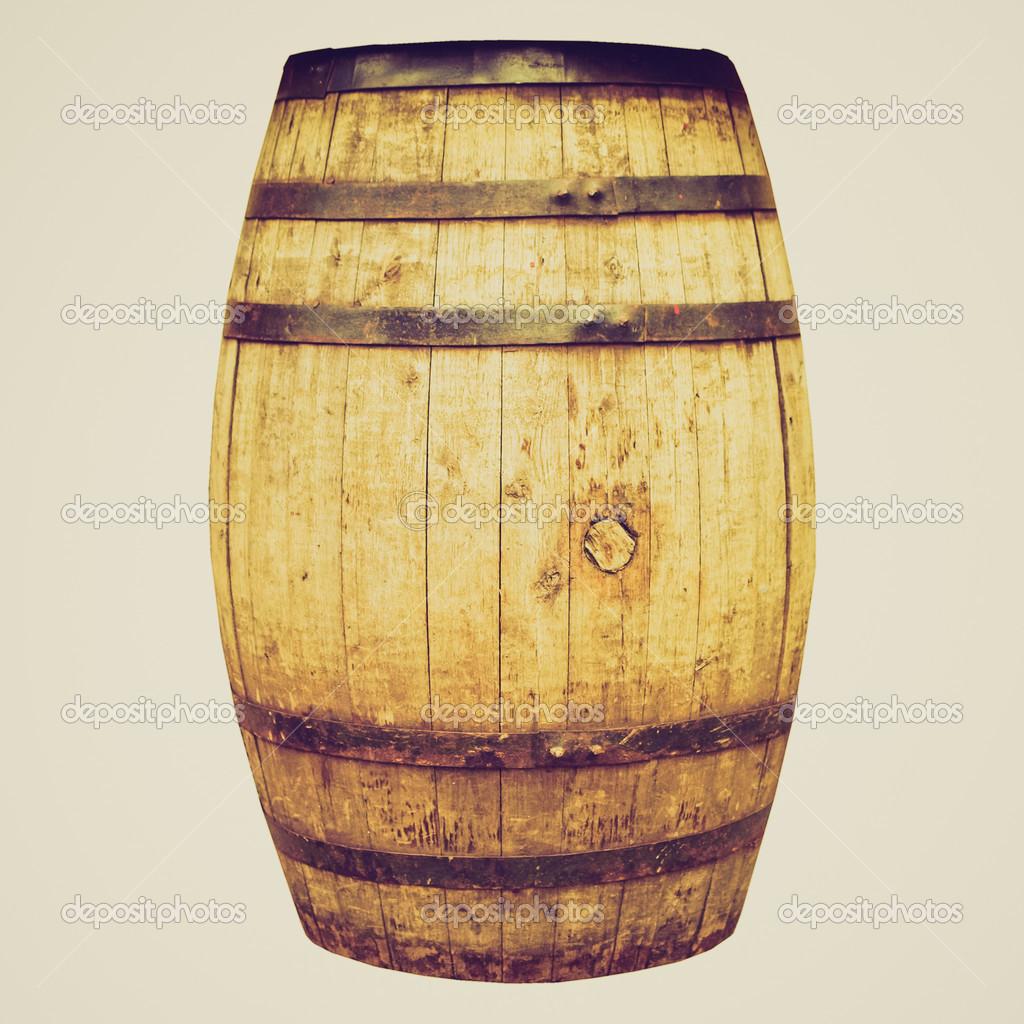 retro look wine or beer barrel cask stock photo. Black Bedroom Furniture Sets. Home Design Ideas