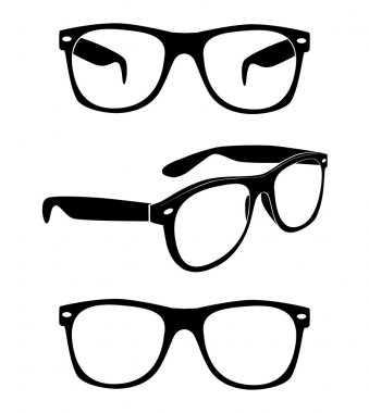 Set of glasses collection design stock vector