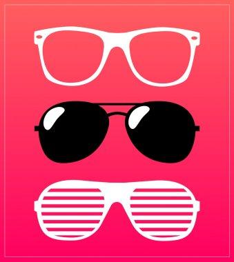 Pattern retro sunglasses