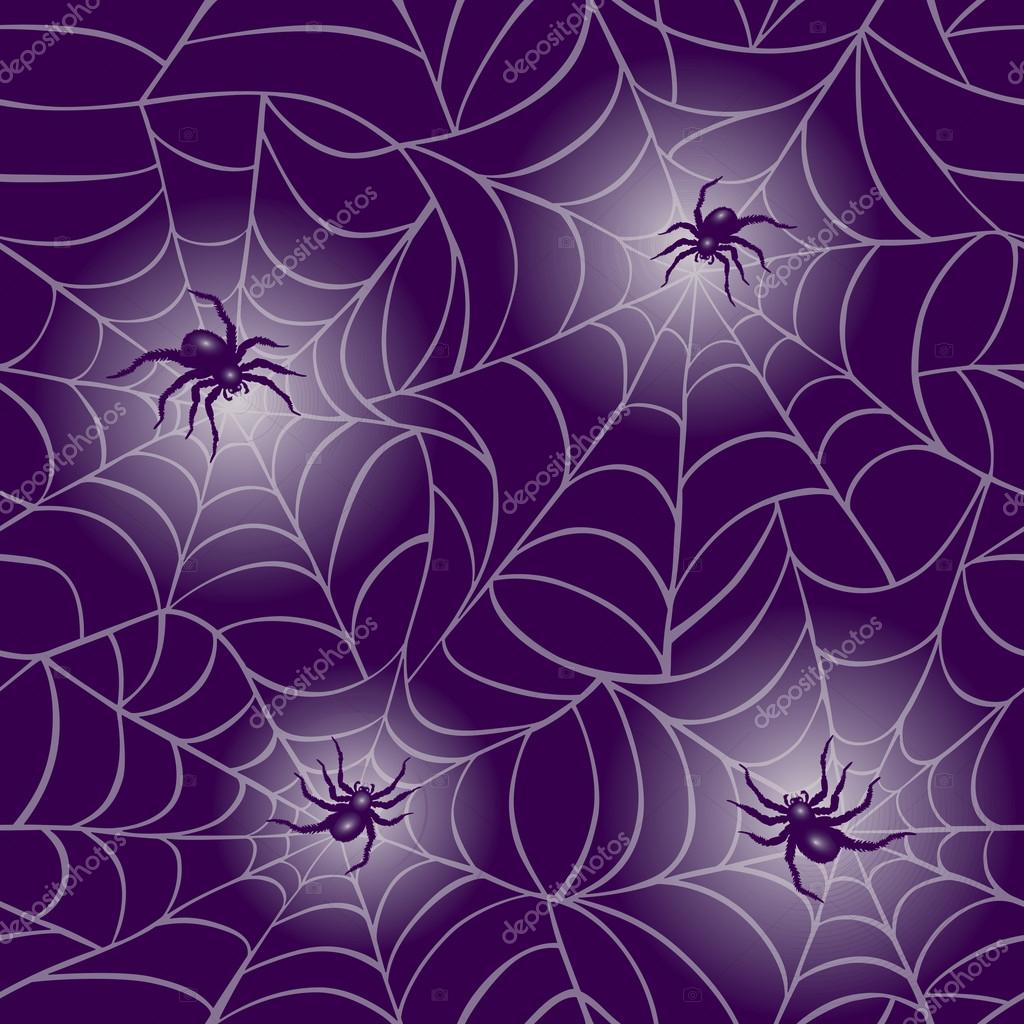Purple Spider Web Pattern