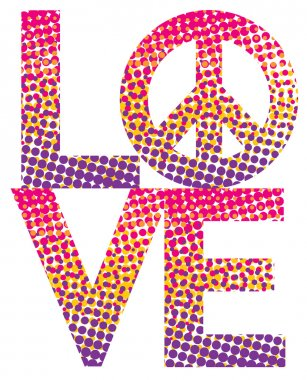 Halftone LOVE-Peace