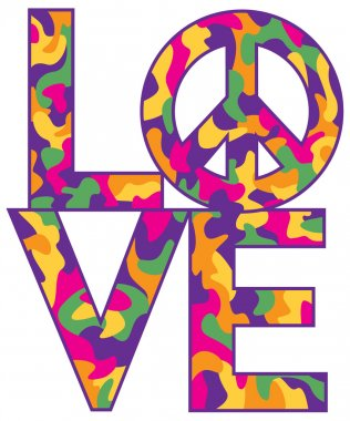 LOVE with Peace Symbol