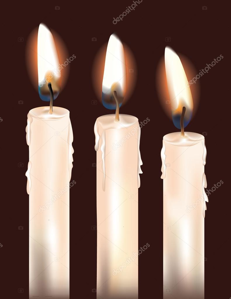 Three White Candles