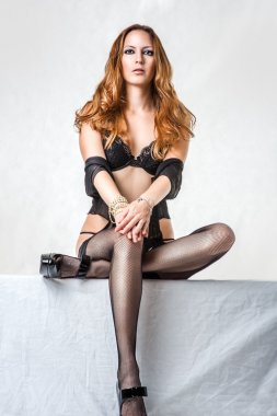 Woman wearing sexy fashionable lingerie