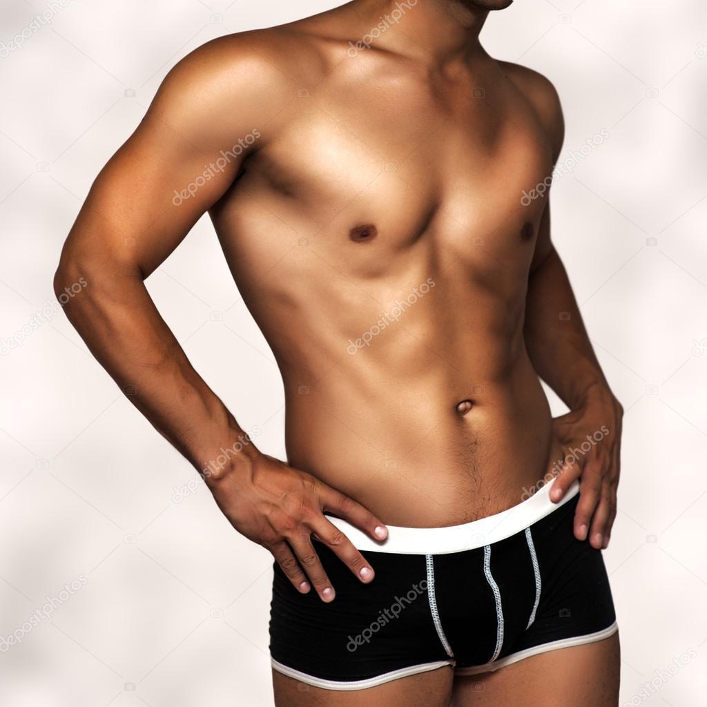 96b77a445d Modelo masculino ropa interior sexy — Foto de Stock
