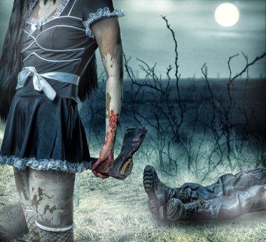 Halloween horror concept.