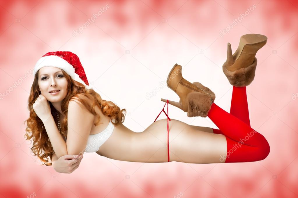 Hot christmas girl santa-9745
