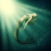 Fantasy mořská víla krásná žena s ocáskem