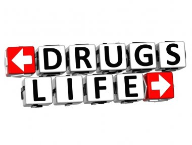 3D Drugs Life Button Click Here Block Text