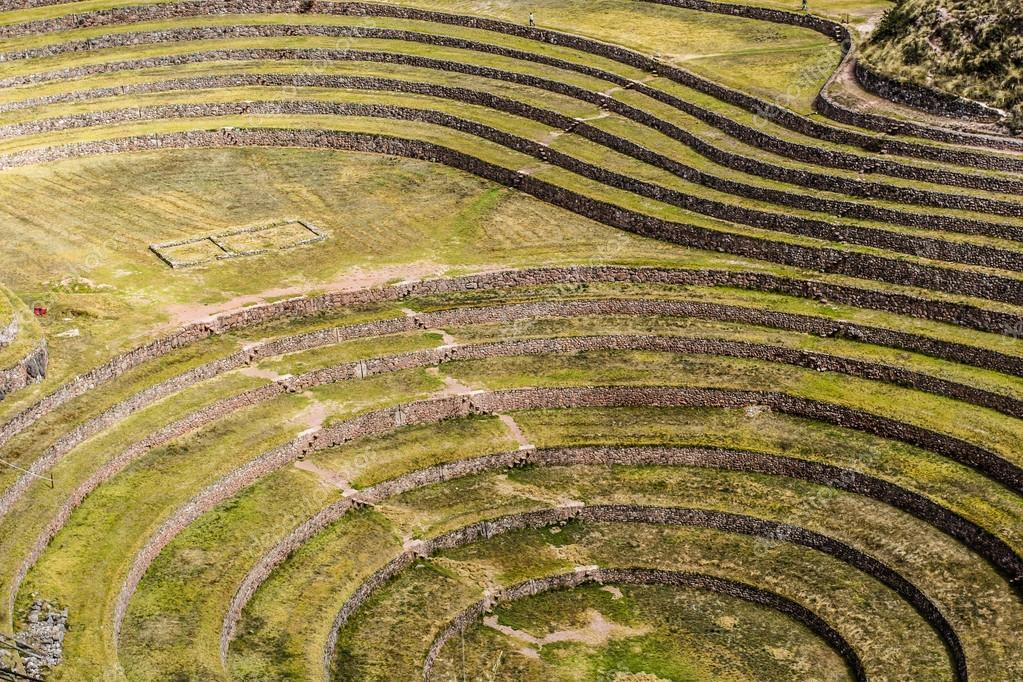 Perú Moray Antiguas Terrazas Circulares De Inca Probable