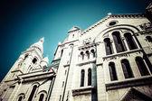 Bazilika Sacre coeur, zblízka v letním dni. Paříž