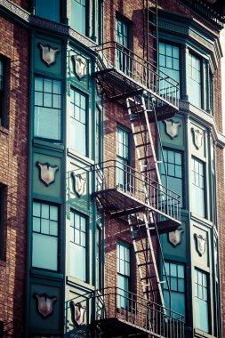 Fire escape on an old building