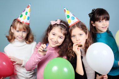 group of girls birthday party.