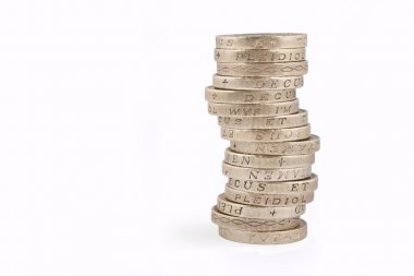 Gold Pound Coin Stack