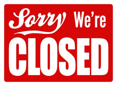 Closed Sign - XL