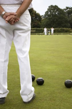 Bowls Green White Trousers