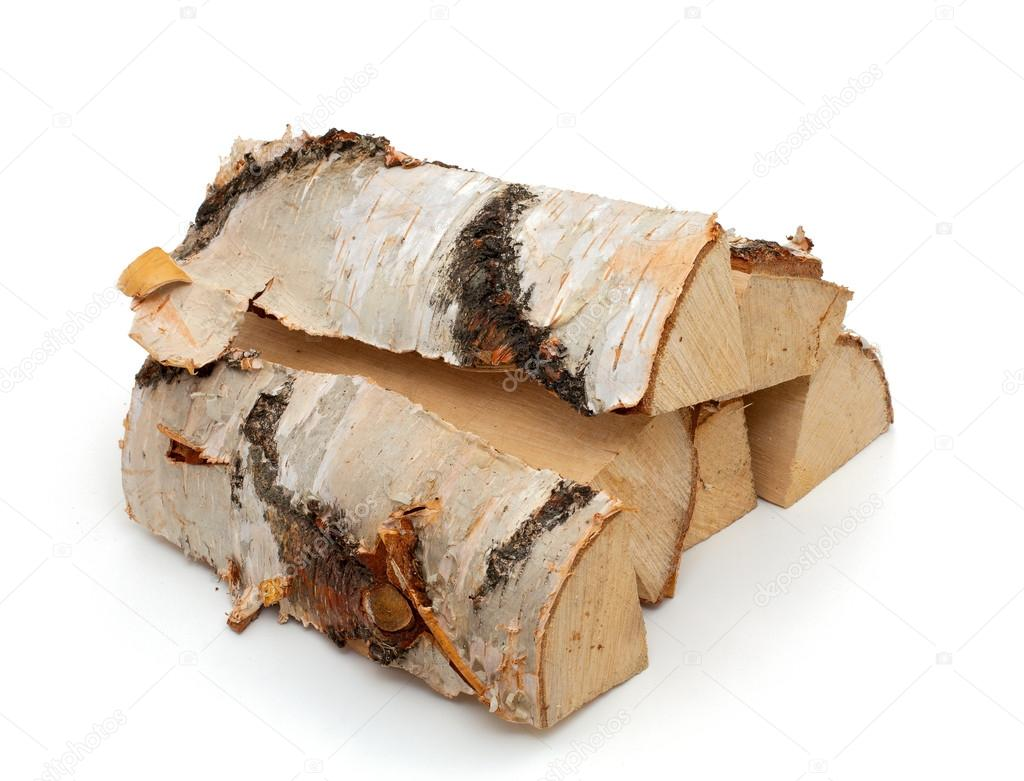 Cut logs of fire wood