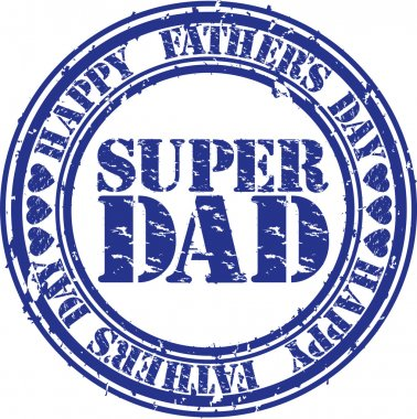Grunge Happy fathers day rubber stamp, vector illustration